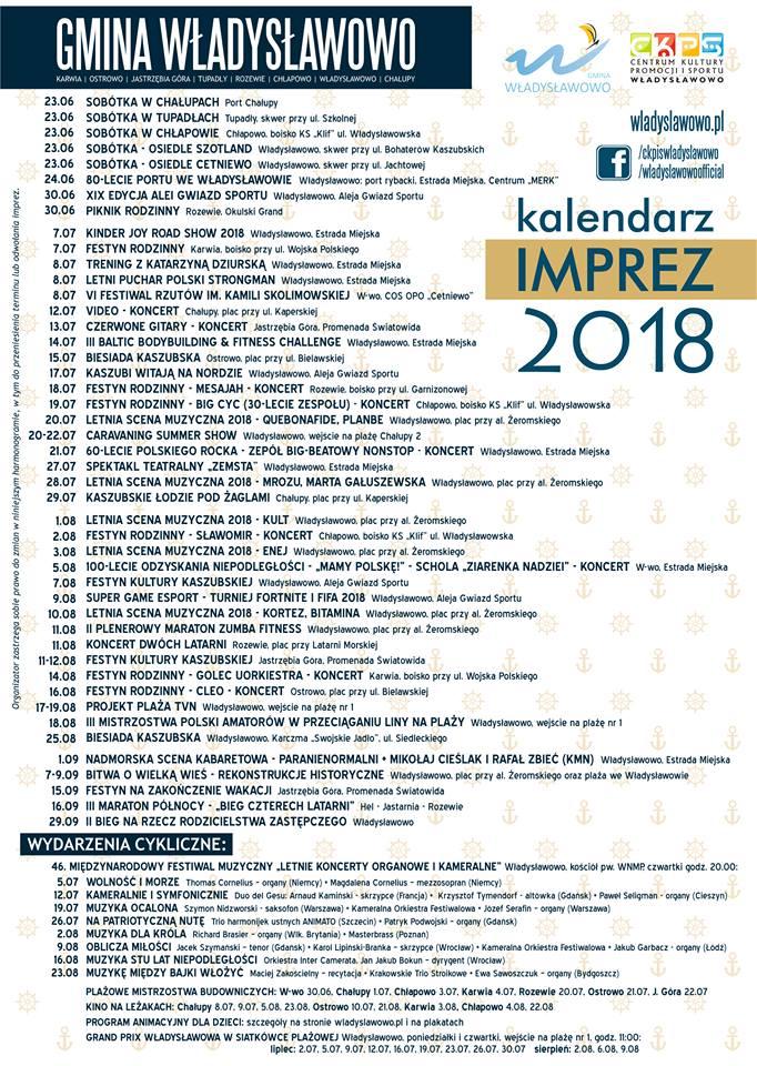 wydarzenia władysławowo 2018